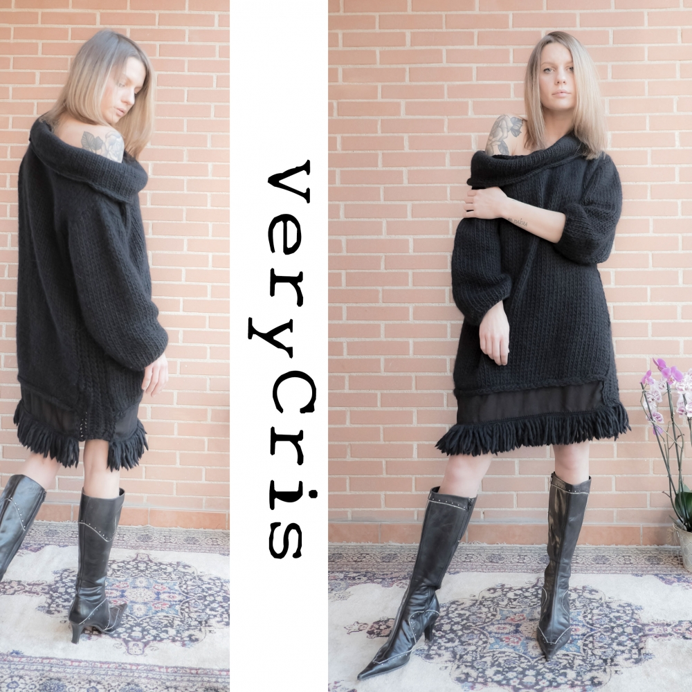 maxi-abito-sweater-mini dress-verycris